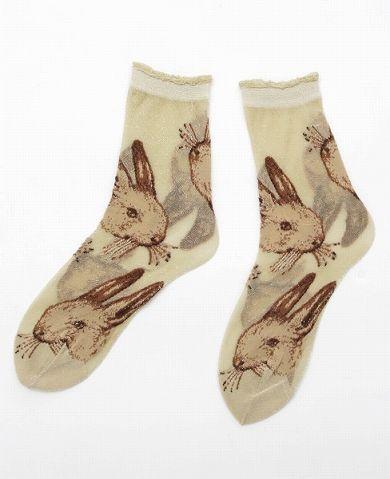 rabbit socks あちゃちゅむムチャチャ ソックス