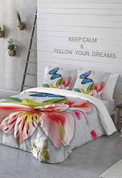 Set de pat multicolor cu imprimeu floral Vintage de la Naturals