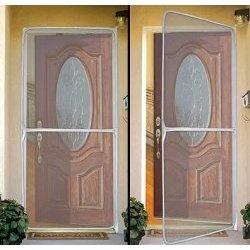 Instant Screen Door   Mounts With Velcro Would Be Great To Keep The Cats  Out Of