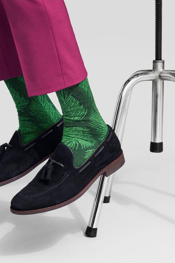 Dressed Palm Leaf Sock Spring/Summer '18 collection HappySocks.com