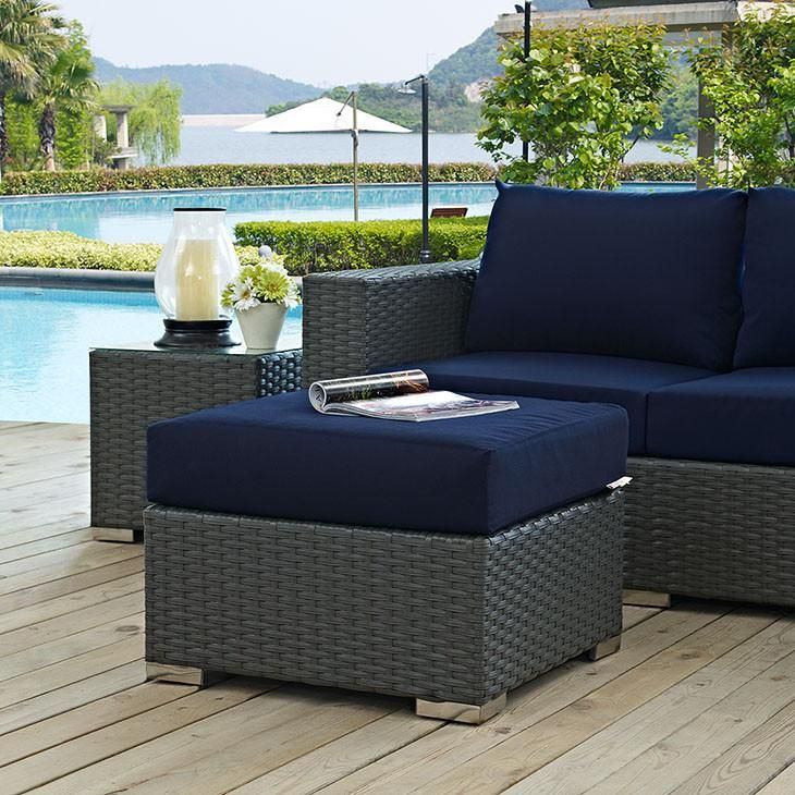 Modway Sojourn Outdoor Patio Ottoman Outdoor Furniture