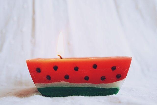 Ważkowa : Diy arbuzowa świeczka