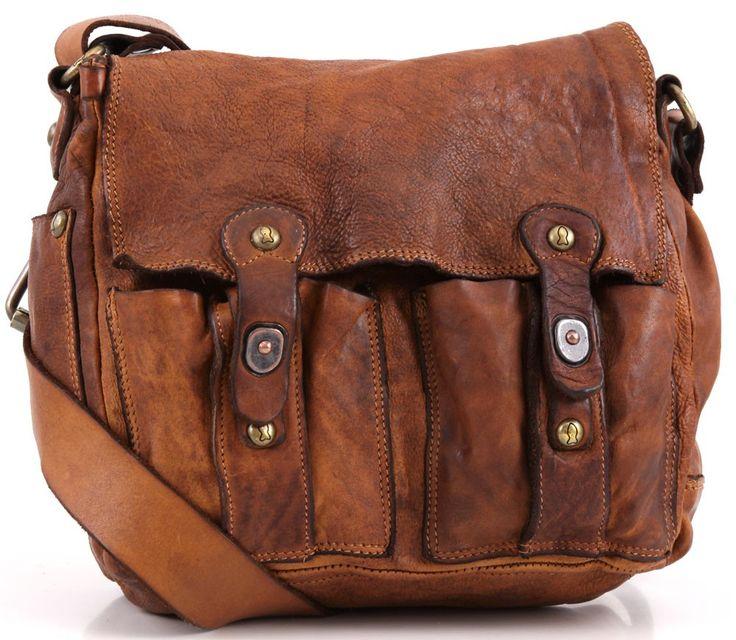Campomaggi Lavata Shoulder Bag Leather cognac 25 cm - C1240VL-1702 | Designer Brands :: wardow.com