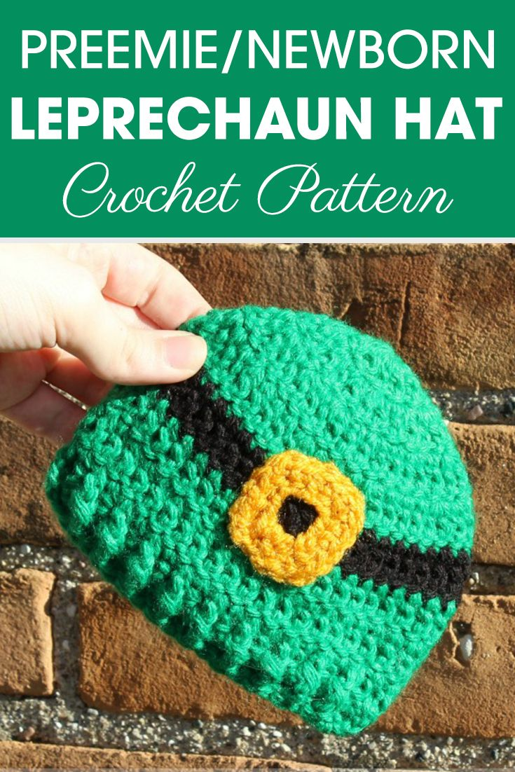 ebbf71f21d9 Make this Preemie Newborn Leprechaun hats for a baby in the NICU this year!   crochet  crochetlove  crochetaddict  crochetpattern  crochetinspiration ...