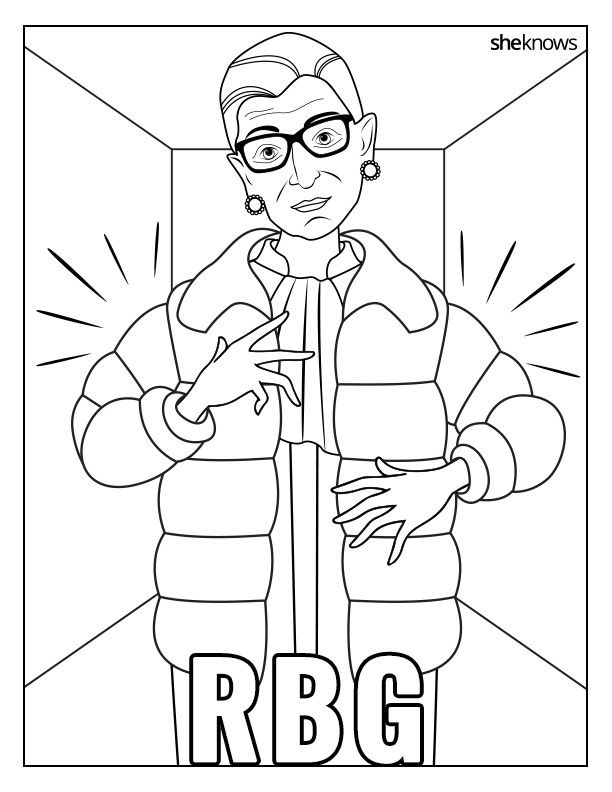 celebrate the notorious rbgs birthday with this printable coloring book used to call her on that cellphone
