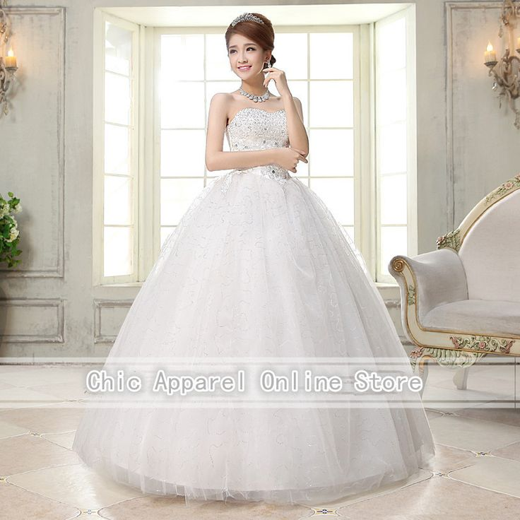 Free shipping,H35 strapless bead ball gown floor length wedding dresses (ding)