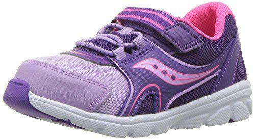 6c9c6afaf5 Saucony Girls' Baby Vortex Sneaker, Purple, 9 Extra Wide US Toddler ...
