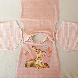 kostenloses Schnittmuster und Nähanleitung für ein Baby-Shirt 50/56-62/68-74/80-76/92