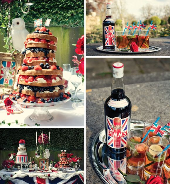 Pimms and afternoon tea, what more could one wish for! I do love over the top!