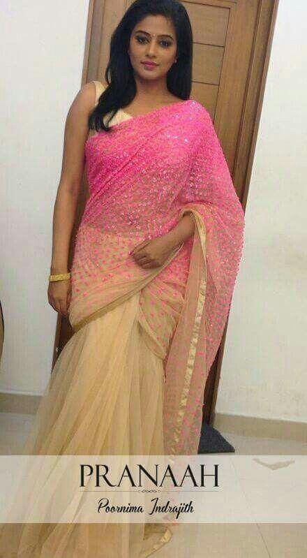 Cute#simple#pink#designer#saree#pranaah