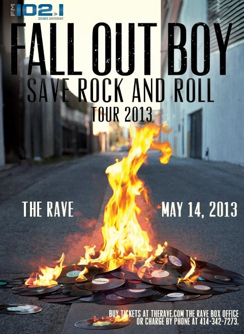 Fall Out Boy live at The Rave, May 14, 2013. SOLD OUT.