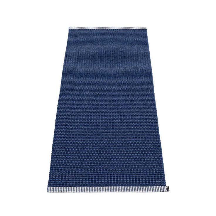 Pappelina | Mono 60 x 250 cm Dark Blue & Denim Rug | Handwoven