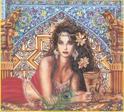 goddess al-uzza: Goddess of the Moon and Protection. She forms a Trinity of Goddesses with al-Lat and Manat. The temple and statue dedicated to her at Nakhla were destroyed by Khalid ibn al Walid. A stone cube was held sacred to her and was a place of pilgramage.