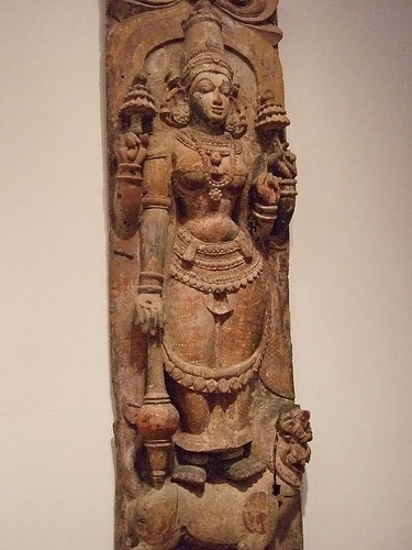 Hindu Festival figure Durga India Bombay 17th century Wood (1)
