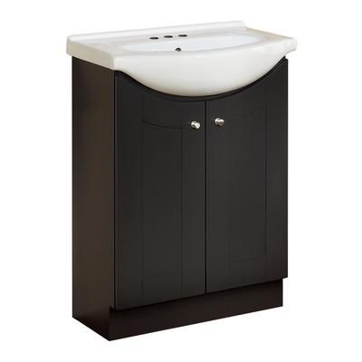 Magick Woods - 24 Inch Eurostone Shaker-style Vanity Base with Top - Dark Chocolate - 41927 - Home Depot Canada