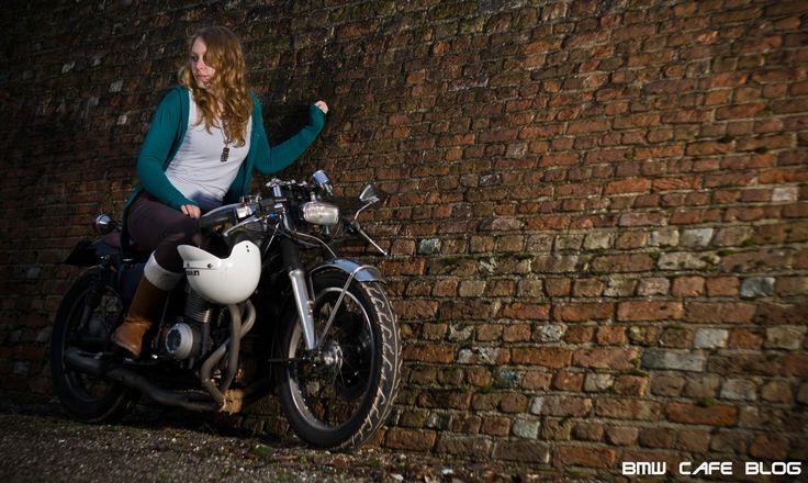 Girl on bike - Girl on a classic bike