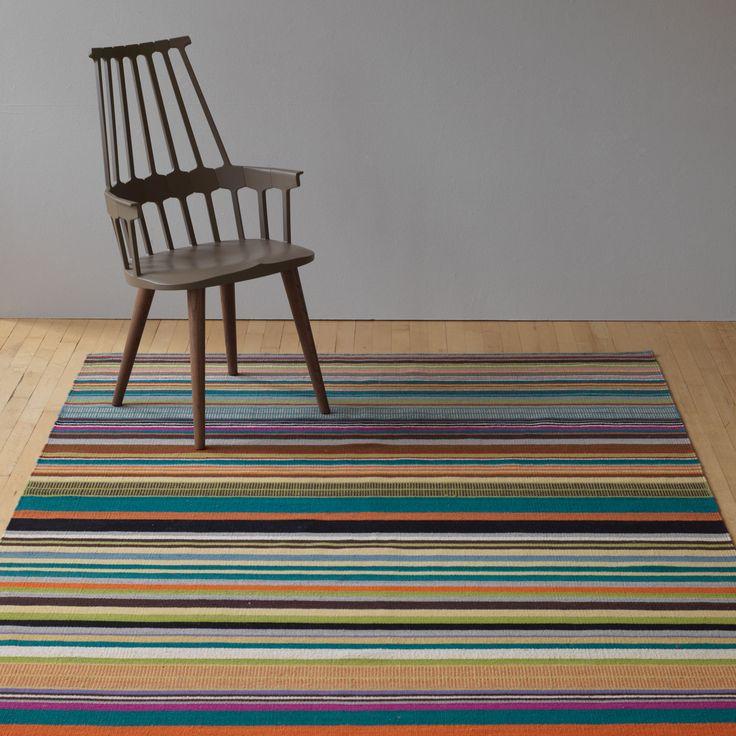 Feel Multi Stripe Flatweave Wool Rug