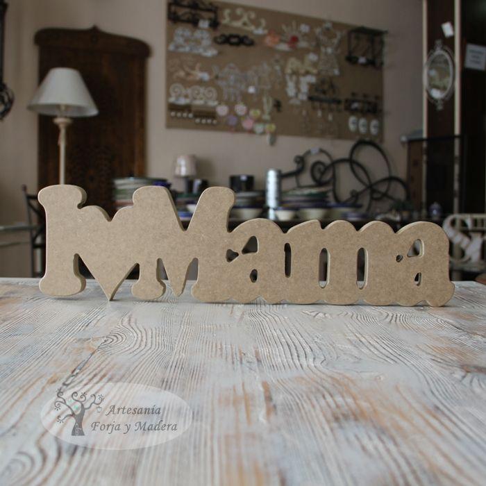 palabras decorativas en madera
