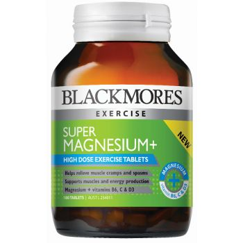 Blackmores Super Magnesium + supports muscles by relieving muscle cramps and spasms.  Blackmores Super Magnesium + is a high strength magnesium supplement to support energy production.