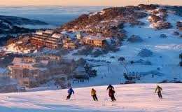 the view from our Hotham ski lodge apartment that we share with family/friends