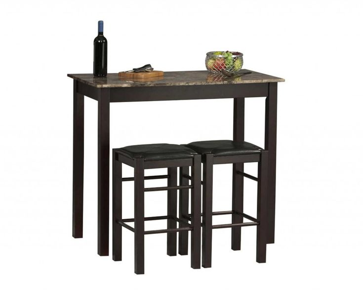 42 Inch Linon Tavern Collection 3 Piece Small Kitchen Table