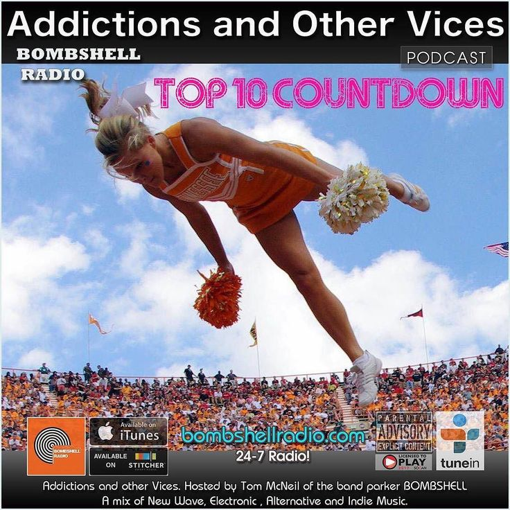 Bombshell Radio Today 8pm-10pm EST bombshellradio.com  Something to Cheer about! Addictions and Other Vices 436 - Top 10 Countdown Sept/Oct  its showtime! Tonight its our Bombshell Radio Top 10 Countdown for Sept/Oct. This time I had the assistance of 5 Presenters who also air their show on Bombshell Radio. Alex Green (The Heart Goes Boom) Brandon Charles  (Alternate Universe)  brilliantfish (The Upstream)Jazzamatazz - Retro Dj mixes of many groovy styles of music (Jazzamatazz) and…