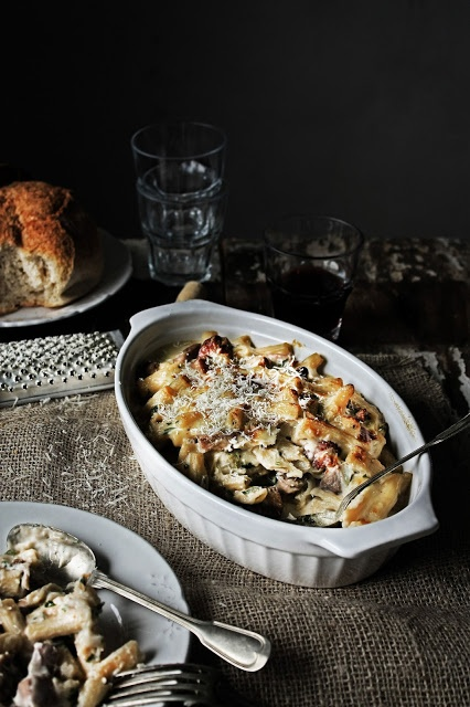 ... rigatoni with chicken mushrooms and chouriço recipes photography and
