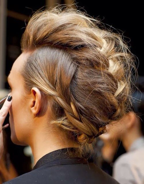 Trendy Braided Faux Hawk