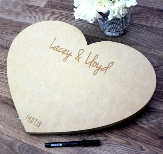 Guestbook Wedding -Wedding Guest Book Alternative - Personalised Wedding Guestbook - Wedding Guest Book - Personalised Guestbook  £19.99
