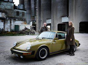 Kim Bodnia as Martin Rohde and Sofia Helin as Saga Norén in The Bridge.