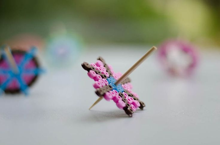spinning tops of Hama beads