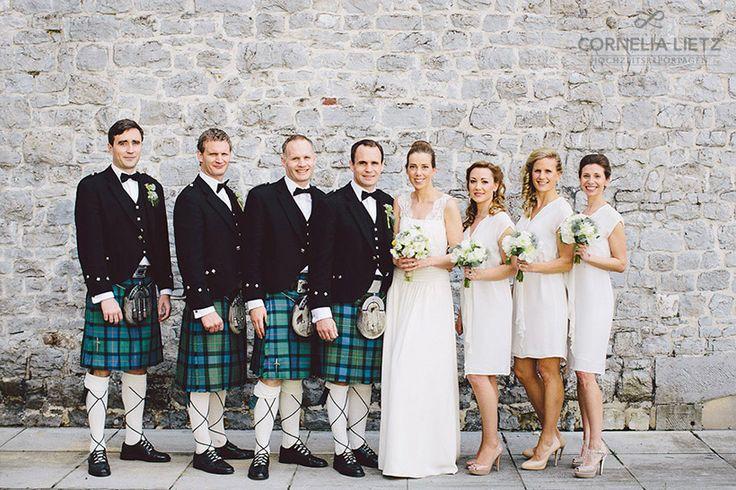 Cornelia Lietz Hochzeitsreportagen Schottenröcke und ein Kleid von Laure de Sagazan, Paris