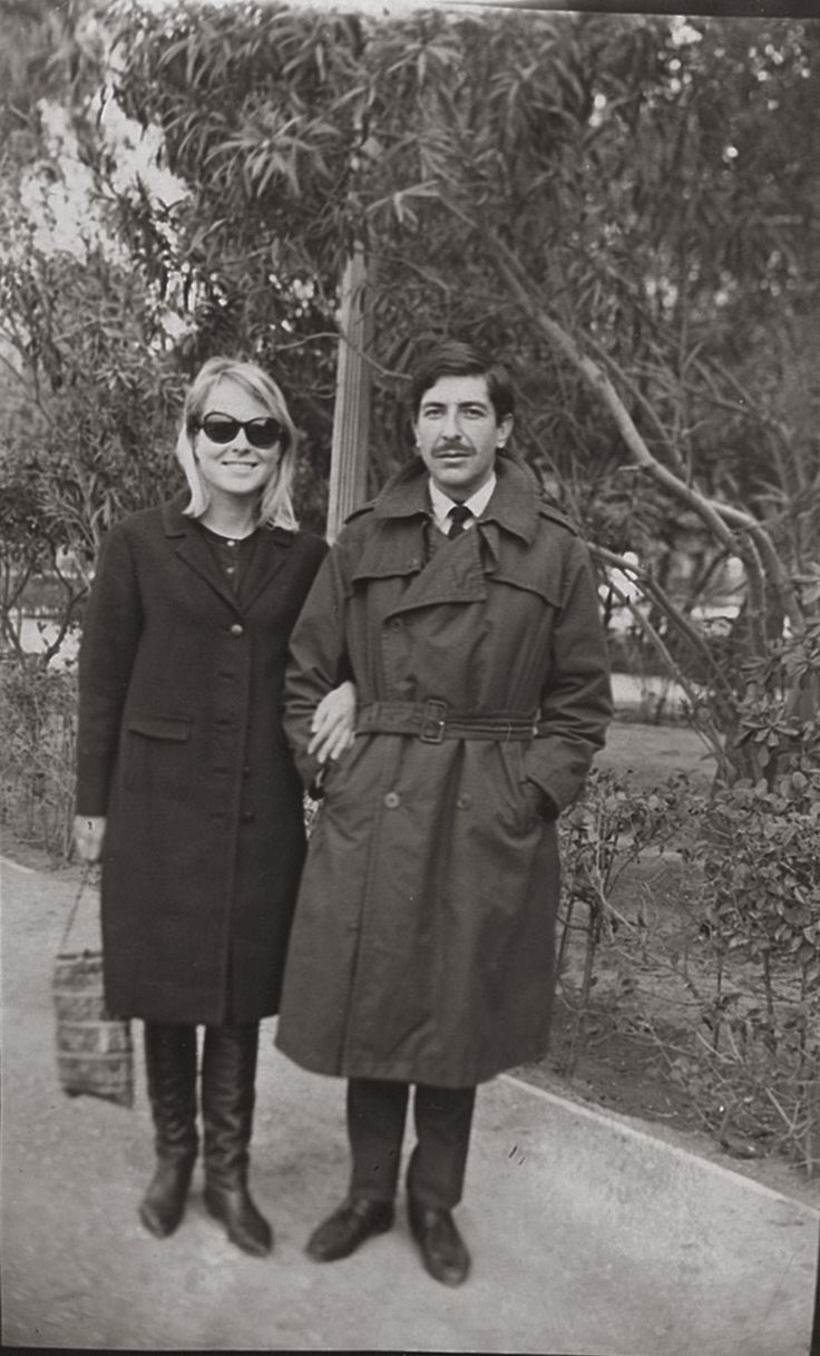 Marianne Jensen And Leonard Cohen In Athens Captured By A