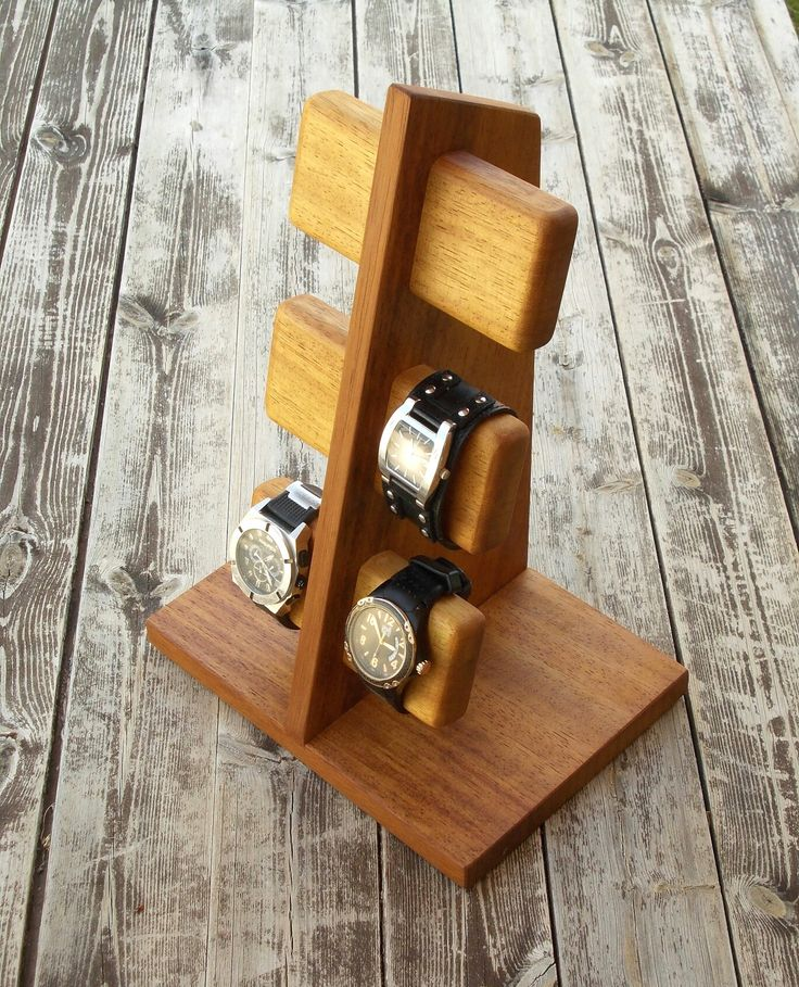 Modern, handmade Watch stand watch display watch holder Más - My Wood Crafting