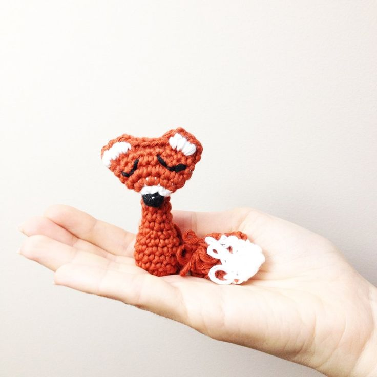 Fox Brooch crochet project shared on the LoveCrochet community!