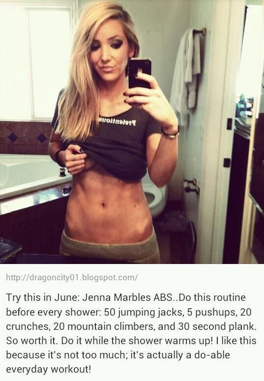 Jenna Marbles Abs - so easy to work into your fitness regime!!