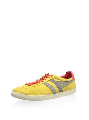 61% OFF Gola Men's Trainer Suede Classic Low Top Sneaker (Mustard/Grey/Red)