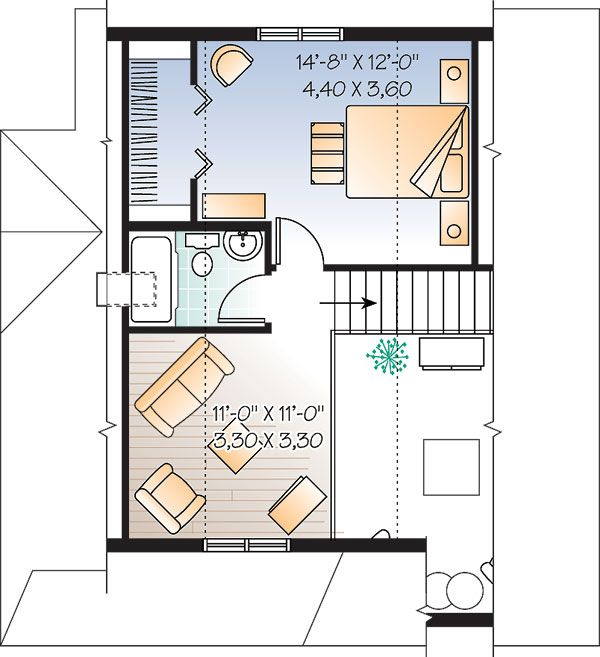 Second Floor of Plan ID: 28554