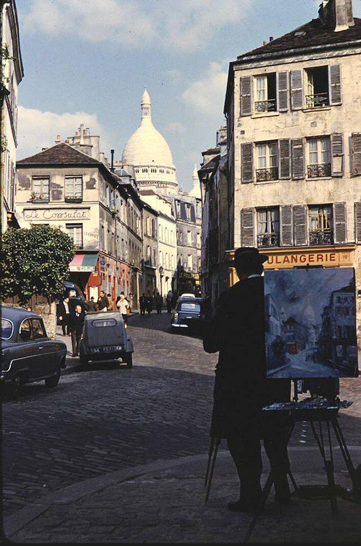 La rue Norvins en 1962 (Paris 18ème)