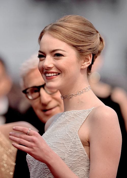 Emma Stone attends the Premiere of 'Irrational Man' during the 68th annual Cannes Film Festival on May 15