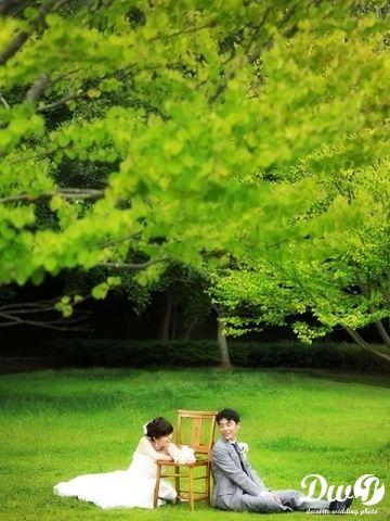 洋装ロケーションフォト 結婚写真 和装前撮り 東京 フォトウエディング専門フォトスタジオのスタジオAQUA