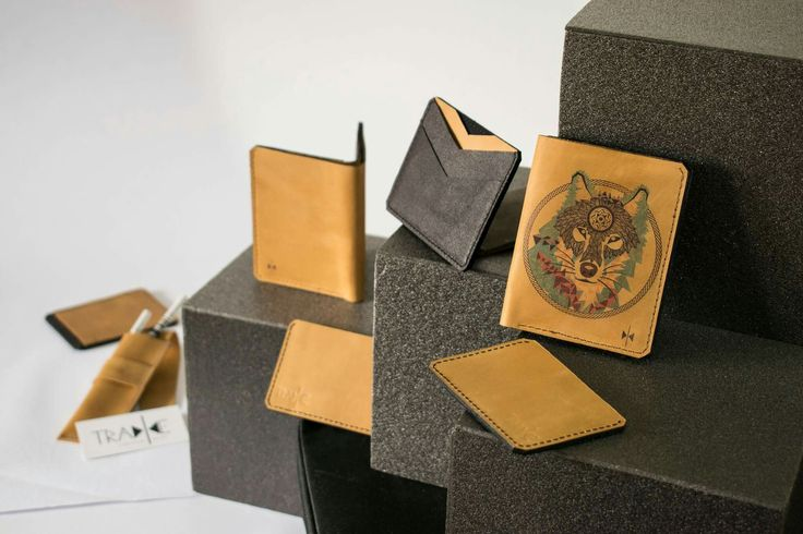 Cool leather wallets in all sizes, from extra small to medium and large, all handcrafted in a beautiful, rich brown leather. #leather #naturalleather #leathercraft #leatherwallet