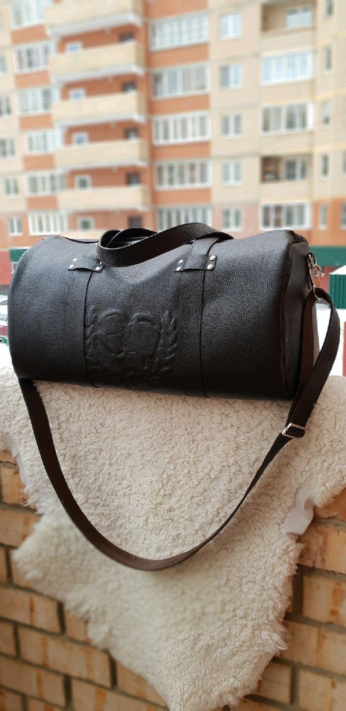 Спортивные сумки ручной работы. Ярмарка Мастеров - ручная работа. Купить  Дорожная сумка из натуральной d8140c4e25a