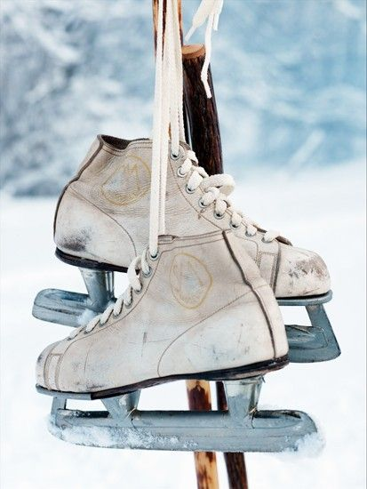 schaatsen in de winter!