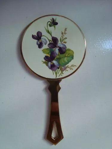 espelho francês bizotado miniatura (12cm) anos 50