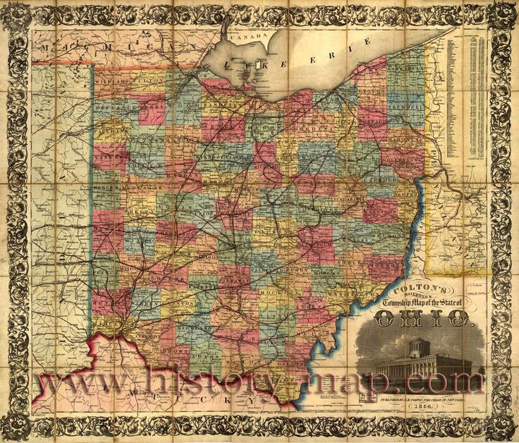 Old Map of Ohio