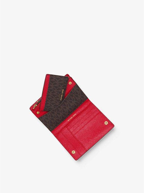 4ce90195b4e7 MICHAEL Michael Kors Jet Set Medium Saffiano Leather Slim Wallet  78 ...