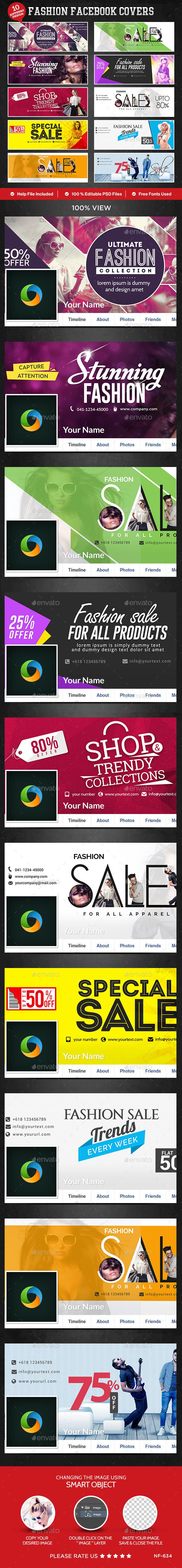 Fashion Facebook Covers - 10 Designs Tempalte #design Download…