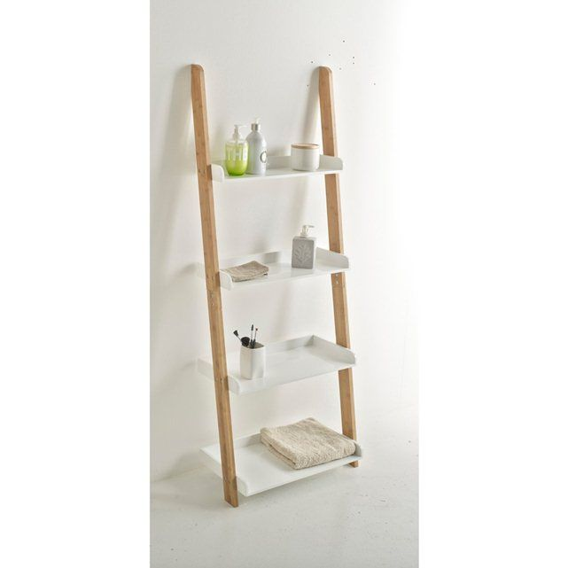LINDUS Bamboo Bathroom Ladder Shelving Unit La Redoute Interieurs : price, reviews and rating, delivery. Bamboo structure with MDF shelves with nitrocellulose varnish finish. 2 versions: 3 or 4 shelves. Size of Lindus bamboo ladder shelving unit: 3-shelf version: 4-shelf version: