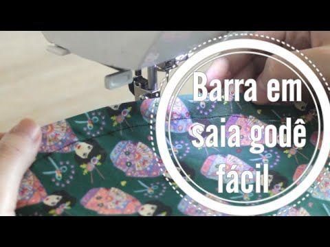 Como fazer bainha em saia godê ::: Dica de costura - YouTube